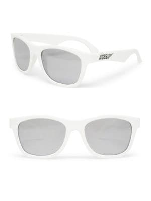 Kids Aces Solid Navigator Sunglasses