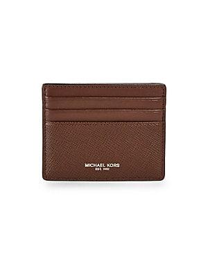 bfcd8f9bdd91 Michael Kors - Leather Card Case - saks.com