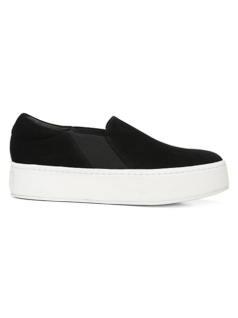disposto convertibile Transizione  Vince Warren Slip-On Platform Suede Sneakers | SaksFifthAvenue