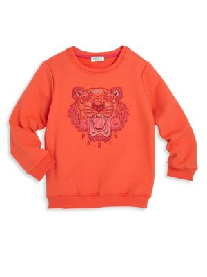 Toddlers Little Girls  Girls Tiger Icon Sweatshirt
