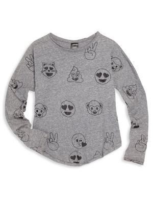 Girls Emoticon Print TShirt