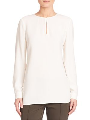 Silk Double Georgette Cryus Blouse by Lafayette 148 New York