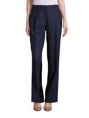 Rivington Finite Italian Flannel Wide-Leg Pants by Lafayette 148 New York