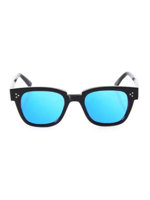 KYME Ricky 49Mm Flat Square Sunglasses in Blue