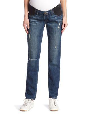 Jimmy Jimmy Distressed Cuffed Maternity Jeans plus size,  plus size fashion plus size appare