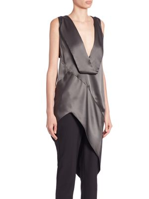 Long Asymmetrical Silk Blouse by Narciso Rodriguez