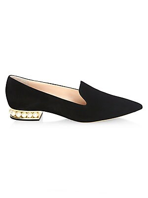 b735249c530 Anjalina Studded Leather Flats.  745.00 · Nicholas Kirkwood - Casati Pearly  Heel Suede Loafers