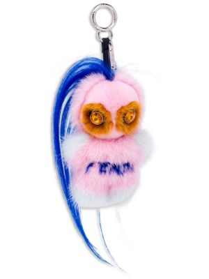Fendi Fendirumi Piro-Chan Key Charm in Mink and Swarovski Crystals