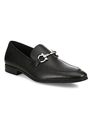 07d5252d1a5 Salvatore Ferragamo - Fenice Gancini Leather Loafers - saks.com