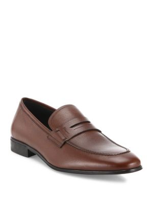 Fiorino 2 Textured Leather Penny Loafers by Salvatore Ferragamo