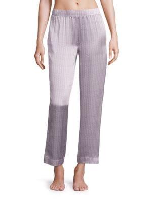 Ash Tile Silk Pajama Pants by Asceno
