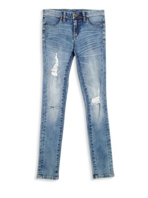 Girl's Distressed Jeans
