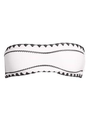 SAME SWIM The Babe Bandeau Bikini Top in Blanc Noir