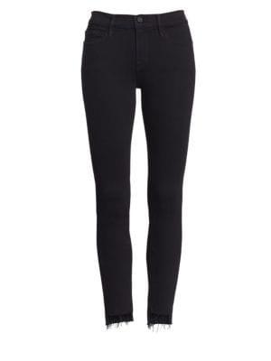 Frame Le Skinny De Jeanne Raw Edge Step Hem Jeans