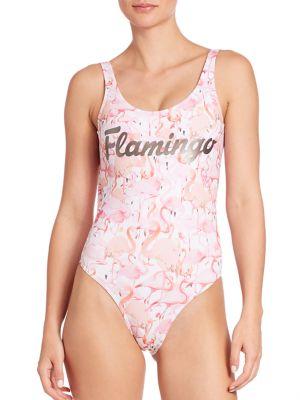 One-Piece Flamingo Swimsuit