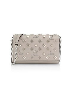 611ffd6dd0 Product image. QUICK VIEW. Christian Louboutin. Paloma Convertible Studded Leather  Clutch. $1390.00. NEW. The Suitcase Stripe Cotton Pouch BLACK