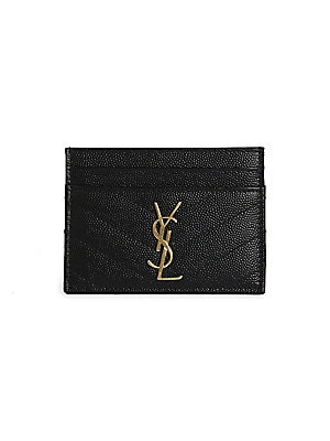 ea9bf7d05c3a Saint Laurent - Monogram Matelassé Leather Card Case - saks.com