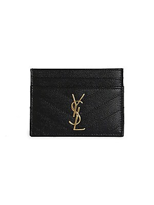 58ac29af6f6 Saint Laurent - Monogram Matelassé Leather Card Case - saks.com