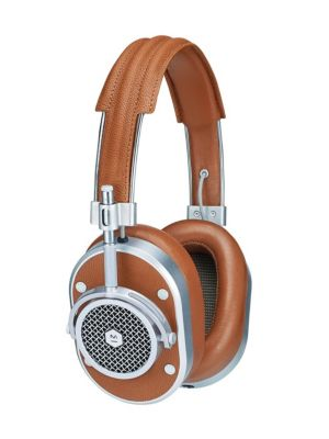 Mw50 Leather Wireless Over-Ear Headphones in Brown