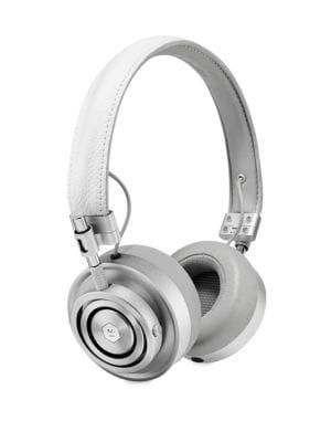 MASTER & DYNAMIC Mh40 Over-Ear Headphones, White/Silvertone