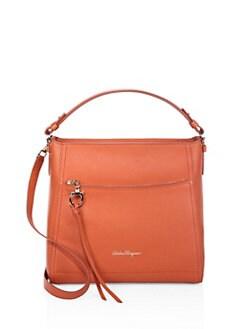 Salvatore Ferragamo Small Ally Leather Hobo Bag 213b96a74c43a