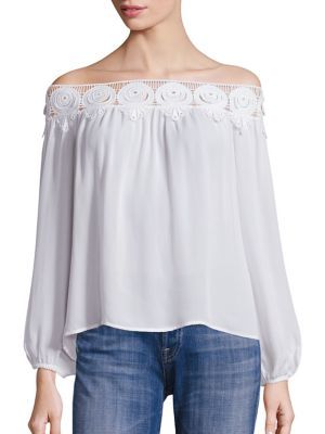 Kyoko Lace Off-The-Shoulder Top by Stone Cold Fox