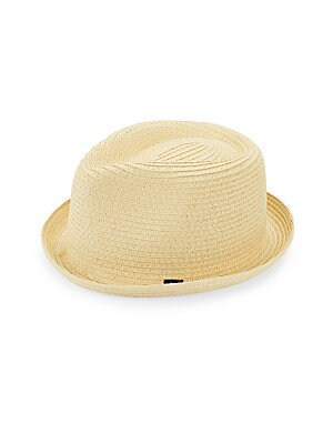 Image of Classic summer hat in soft braided straw Diameter, about 6 Straw Imported. Men Accessories - Cold Weather Accessories. Block Headwear. Color: Black. Size: Large/XL.