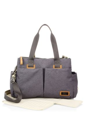 STORKSAK Travel Diaper Bag in Grey