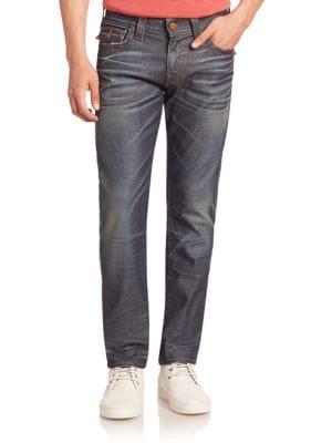 True Religion Cottons Geno Straight Leg Jeans