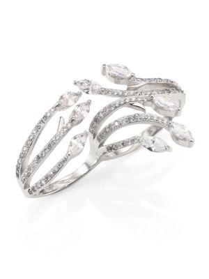 Fallon Monarch Crystal Double Ring
