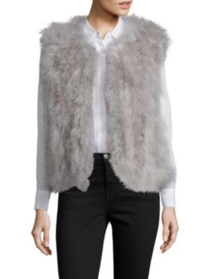 Fluffy Feather Vest by Pello Bello