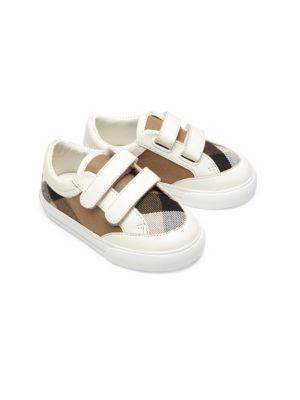 Babys Mini Heacham Leather  Cotton Sneakers