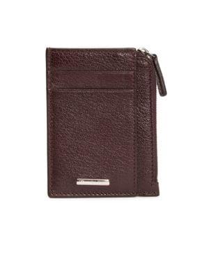 Givenchy bi fold leather card holder saks ermenegildo zegna zipper leather card holder reheart Image collections