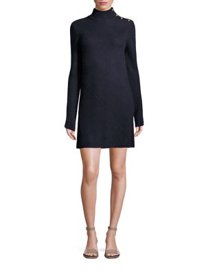 Brodie Rib-Knit Sweater Dress