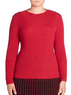 Rib-Knit Crewneck Sweater by Stizzoli, Plus Size