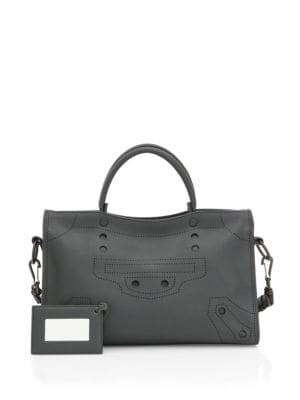 Black Out City Small Leather Bag by Balenciaga