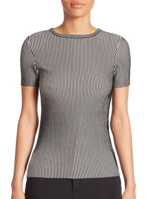 Short Sleeve Striped Top by Opening Ceremony