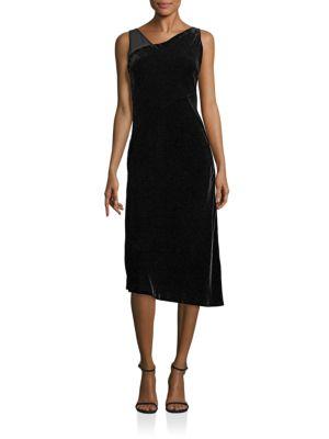 Sleeveless Asymmetrical Velvet Lorde Dress
