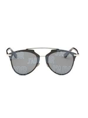 Reflected Prism 63Mm Mirrored Modified Pantos Sunglasses in Grey
