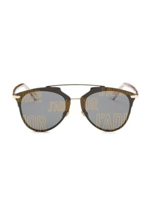Reflected Prism 63Mm Mirrored Modified Pantos Sunglasses in Rose Gold
