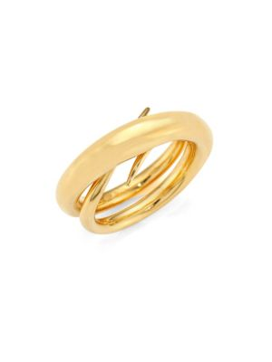 "Unchained Ring/Goldtone 0.75"" by Charlotte Chesnais"