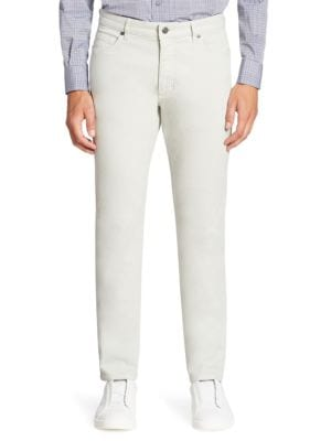 Ermenegildo Zegna Dyed Straight-fit Jeans In Silver Solid