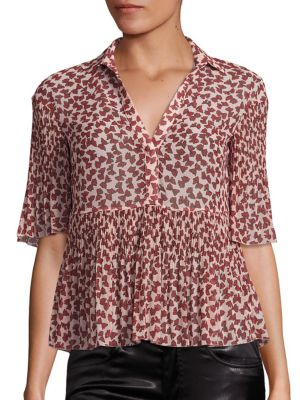 Printed Georgette Plisse Blouse by GIAMBA