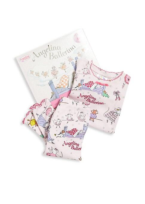 Toddlers  Little Girls TwoPiece Angelina Ballerina Pajama  Book Set
