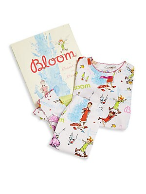 Image of A mud fairy and an extraordinary girl must work together to save a castle in peril. All set for gift-giving, this adorable set features allover printed top, matching pants and beloved picture book. Scalloped hem. Ribbed trim. Cotton. Machine wash. Made in