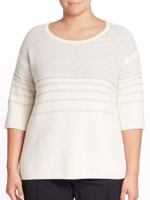 Wool Knit Sweater by Lafayette 148 New York, Plus Size