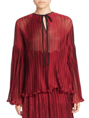 Pleated Long Sleeve Top by Romance Was Born
