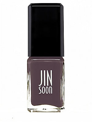 Image of From the Dandizette Collection. Cacao Brown nail lacquer, 5-free, vegan friendly, high shine. 0.37 oz. Made in USA. Cosmetics - Treatment Brand. JINsoon. Color: Toff.