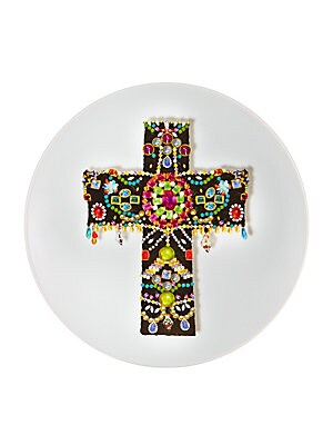 "Image of An extraordinary design to present delectables in high style. Diameter, 10"" Porcelain Imported. Gifts - Serveware. Christian Lacroix by Vista Alegre."