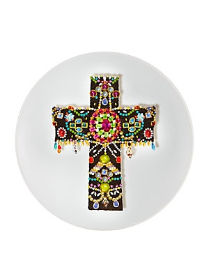 "Image of An extraordinary design to present delectables in high style. Diameter, 10"" Porcelain Imported. Gifts - Serveware > Saks Fifth Avenue. Christian Lacroix by Vista Alegre."